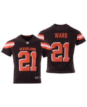 Nike Denzel Ward Cleveland Browns Game Jersey, Big Boys (8-20)