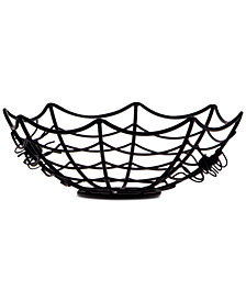 Home Essentials Spider Web Metal Bowl