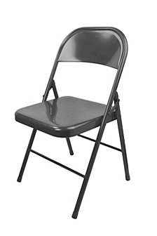 Metal Folding Chair, Grey