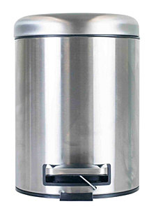 Home Basics Dome Top 5 Liter Stainless Steel Waste Bin