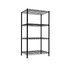 Home Basics 4 Tier Steel Wire Shelf