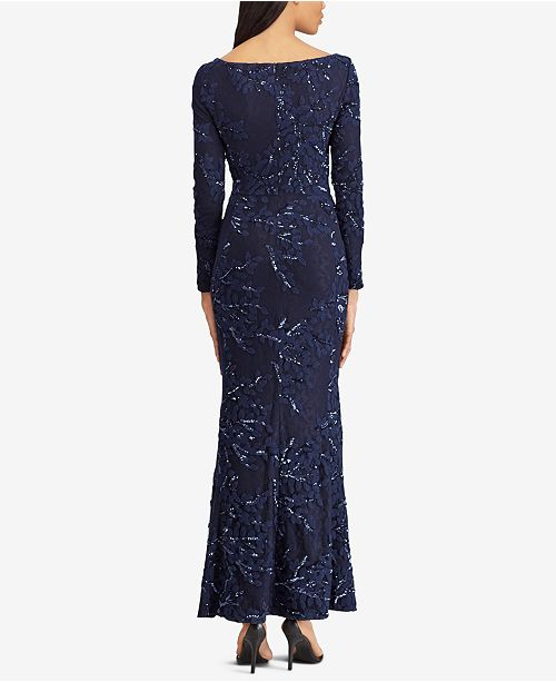 26d7090a930 Lauren Ralph Lauren Embroidered Sequin Gown   Reviews - Dresses ...