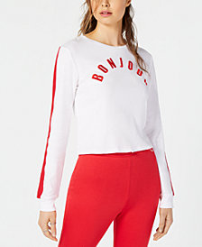 Project 28 Bonjour Long-Sleeve Cotton Sweatshirt