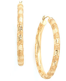 Hoop Earrings in 14k Gold