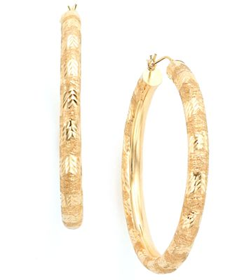 Hoop Earrings in 14k Gold Earrings Jewelry & Watches Macy s