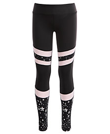 Ideology Little Girls Space-Print Colorblocked Leggings, Created for Macy's