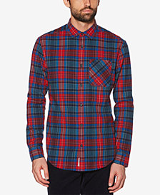 Original Penguin Men's 90s Plaid Flannel Pocket Shirt