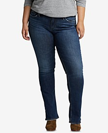 Plus Size Suki Slim Boot-Cut Jeans