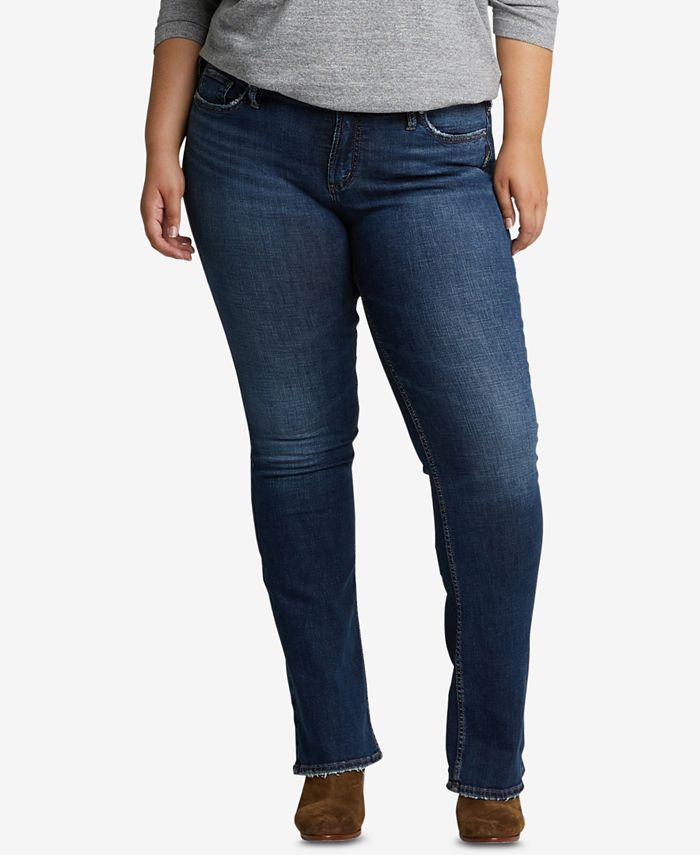 Silver Jeans Co. - Plus Size Suki Slim Boot-Cut Jeans