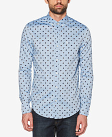 Original Penguin Men's Records Dot Chambray Pocket Shirt