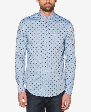 ORIGINAL PENGUIN Men'S Records Dot Chambray Pocket Shirt in Classic Blue