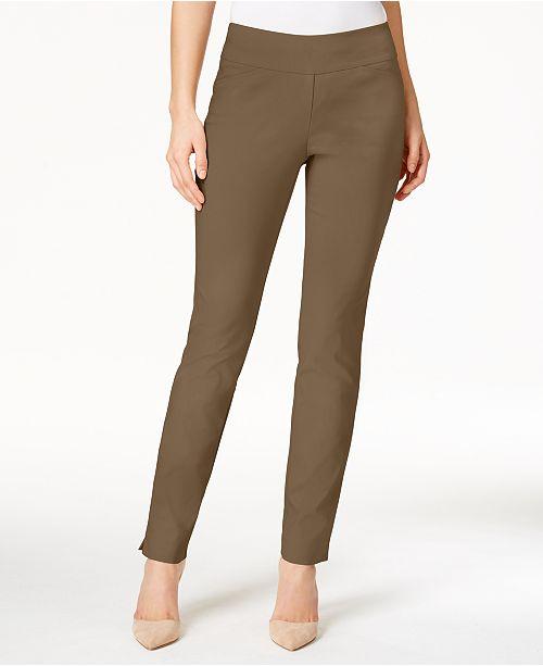 Charter Club Petite Slim-Leg Pull-On Pants, Created for Macy's