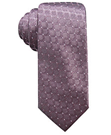 Ryan Seacrest Distinction™ Men's Sovana Grid Slim Silk Tie, Created for Macy's