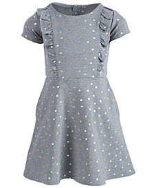 Epic Threads Toddler Girls Ruffle-Trim Heart-Print Dress, Created for Macy's