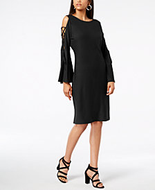 Love Scarlett Petite Lace-Up Cold-Shoulder Dress