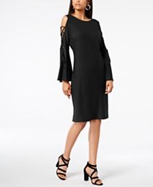 Love Scarlett Petite Lace-Up Cold-Shoulder Dress