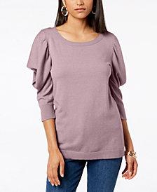 Love Scarlett Petite Ruffled-Sleeve Sweater