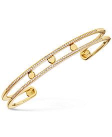 Michael Kors Women's Custom Kors Pavé Sterling Silver Nesting Bracelet Jacket