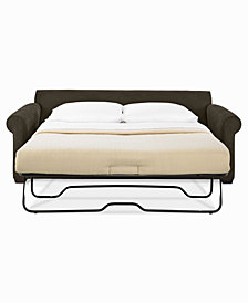 "Dial II 76"" Full Sleeper Sofa with 4 Toss Pillows"