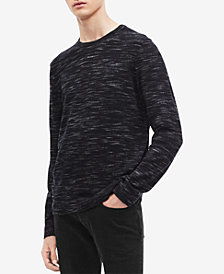 Calvin Klein Men's Space-Dyed Crew Neck Sweater