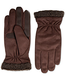 Isotoner Men's Faux-Suede Gloves