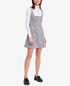 Free People Plaid Fit & Flare Dress