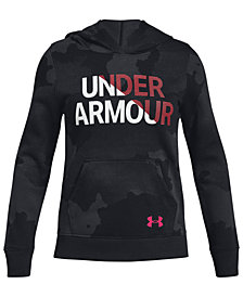 Under Armour Big Girls Rival Graphic Hoodie