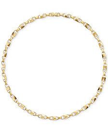 Michael Kors Women's Mercer Link Sterling Silver Necklace