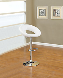 Ring Bar Stool, White