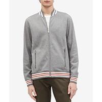 Calvin Klein Mens Contrast-Collar Bomber Jacket