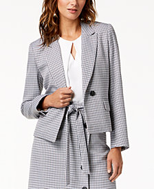 Bar III Plaid Two-Button Blazer, Created for Macy's