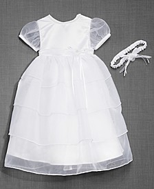 Baby Girls Christening Dress & Headband