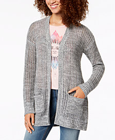 Oh!MG Juniors' Open-Stitch Pocket Cardigan