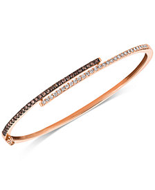 Le Vian Chocolatier® Diamond Bangle Bracelet (3/4 ct. t.w.) in 14k Rose Gold