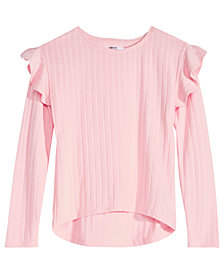 Epic Threads Big Girls Ruffle-Trim Sweater, Created for Macy's