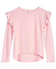 Epic Threads Big Girls Ruffle-Trim Sweater, Created for Macy's