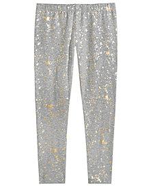 Epic Threads Big Girls Splatter-Print Leggings, Created for Macy's
