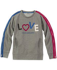 Calvin Klein Big Girls Love Sweatshirt