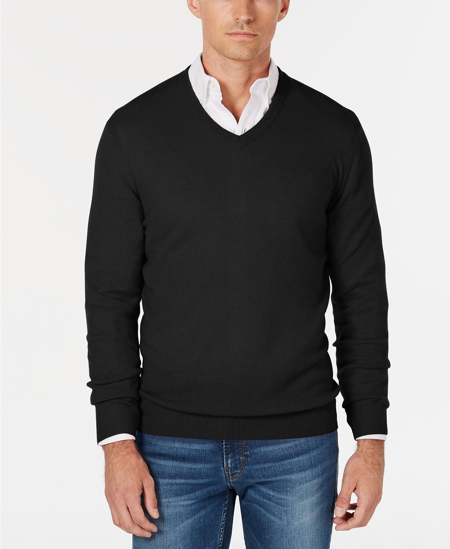 Save 60% on Club Room Men's V-Neck Cashmere Sweater