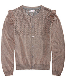 Epic Threads Big Girls Ruffle-Trim Cardigan, Created for Macy's