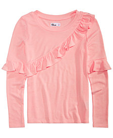 Epic Threads Big Girls Ruffle Trim Sweater-Knit Top, Created for Macy's