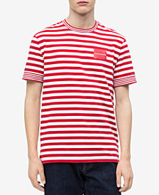 Calvin Klein Jeans Men's Striped Pocket T-Shirt