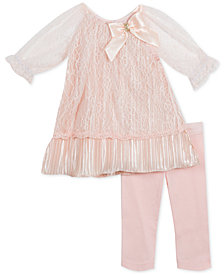 Rare Editions Baby Girls 2-Pc. Lace Tunic & Leggings Set
