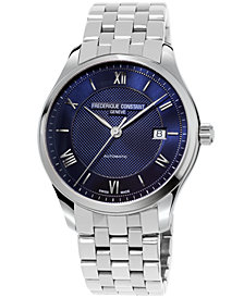 Frederique Constant Men's Swiss Automatic Classics Index Stainless Steel Bracelet Watch 40mm