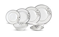 Lorren Home Trends Viola 28-Pc. Dinnerware Set, Service for 4