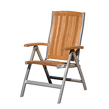 Courtyard Casual Burma Teak and Aluminum Outdoor Chair