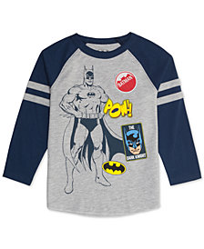 DC Comic Toddler Boys Batman Graphic Raglan T-Shirt