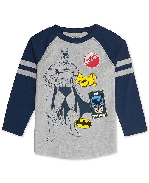 48fb99fe30286 DC Comics Little Boys Batman Raglan T-Shirt   Reviews - Shirts ...