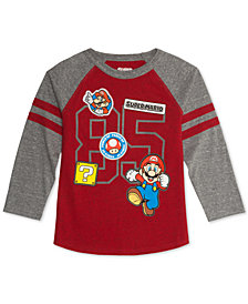 Nintendo Little Boys Mario Brothers Raglan T-Shirt