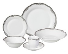 Lorren Home Trends Elizabeth 24-Pc. Dinnerware Set, Service for 4